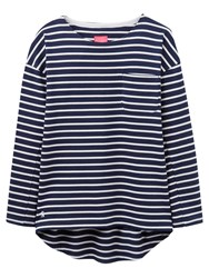 Joules Bay Jersey Top French Navy Stripe