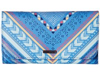 Roxy My Long Eyes Wallet Ax Vertical Arrow Combo Chambray Wallet Handbags Blue