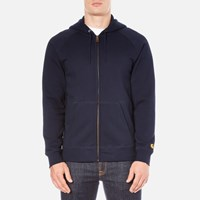 Carhartt Men's Hooded Chase Jacket Navy Gold Blue