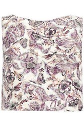 Anna Sui Woman Cropped Floral Jacquard Top Ivory