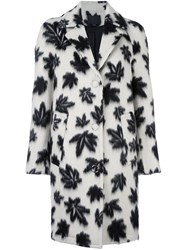 Alexander Wang Leaf Motif Car Coat Black