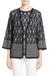 St. John Women's Collection Adina Jacquard Knit Cardigan