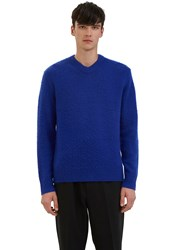 Acne Studios Peele Cashmere Knit Sweater Blue