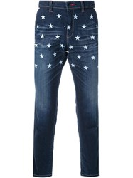 Education From Youngmachines Star Print Straight Leg Jeans Blue