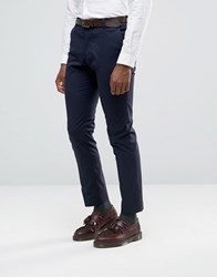 Selected Homme Suit Trousers With Stretch In Slim Fit Navy