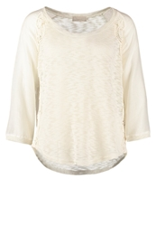 Cream Cassie Long Sleeved Top Pale Cream Off White