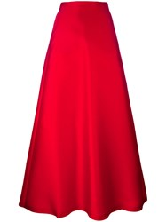 Max Mara Mid Rise A Line Skirt Red