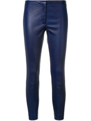 Theory Cropped Leggings Blue