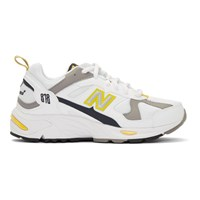 New Balance White And Yellow 878 Sneakers