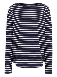 Fat Face Breton Stripe Top Navy