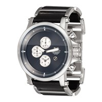 Vestal Plexi Leather Watch Silver Black