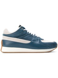 790525d53c Kris Van Assche Lace Up Sneakers Calf Leather Leather Calf Suede Rubber Blue