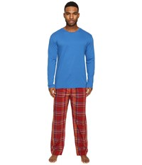 Original Penguin Jersey Crew Pj Set Classic Blue Biking Red Men's Pajama Sets