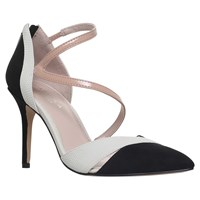 Carvela Lunar Pointed Toe Court Shoes Black White