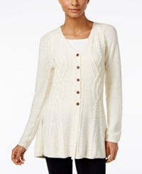 Styleandco. Style Co. Ribbed Peplum Cardigan Only At Macy's Warm Ivory