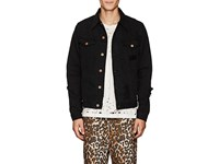 Nsf Carson Distressed Denim Jacket Black