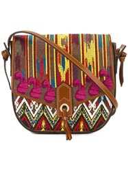 Etro Embroidered Satchel Brown
