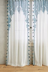 Anthropologie Adalet Curtain Blue Green