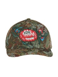 Gucci Floral Tapestry Cap Green