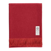 So Cosy Emery Baby Alpaca Wool Throw 130X180cm Crimson Red Deep Orange