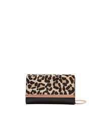 Ted Baker Leeza Leopard Print Leather Cross Body Bag Black