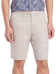 Saks Fifth Avenue Cotton And Linen Shorts Blue