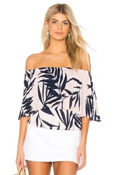 Michael Stars Paradiso Tiered Top Pink