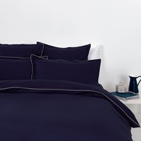 Tommy Hilfiger 100 Cotton Percale Duvet Cover Navy Super King