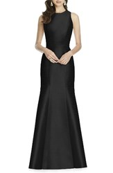 Alfred Sung Women's Dupioni Trumpet Gown