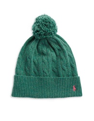 Polo Ralph Lauren Merino Wool And Cashmere Beanie Green