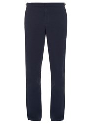 Orlebar Brown Slim Straight Leg Cotton And Linen Blend Trousers