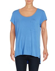Lord And Taylor Solid Pocket Tee Light Peri