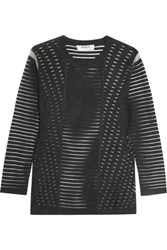 Bailey 44 Reservoir Mesh And Stretch Knit Sweater Anthracite
