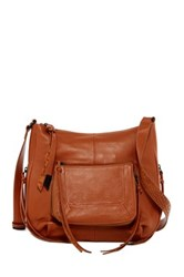 Foley Corinna Tonya Large Leather Crossbody Brown