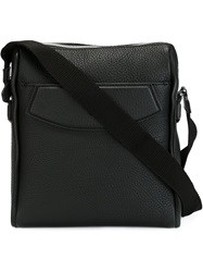 Canali Top Zip Messenger Bag Black