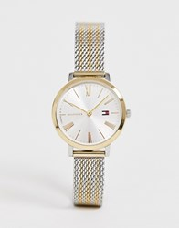 Tommy Hilfiger X Zendaya 1782055 Mesh Watch In Mixed Metal Silver
