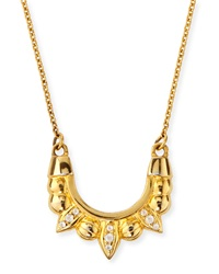 Pamela Love Gold Plated Mini Tribal Spike Necklace