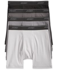 Jockey Men's 3 1 Cotton Stay Cool Boxer Briefs Grey Assorted