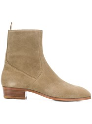Represent Side Zip Ankle Boots Green