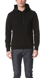 Reigning Champ Heavyweight Terry Side Zip Pullover Hoodie Black