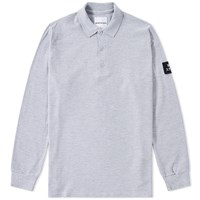 Mki Miyuki Zoku Mki Long Sleeve Arm Badge Polo Grey