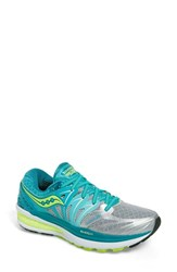 Women's Saucony 'Hurricane Iso 2' Running Shoe Blue Silver Citron
