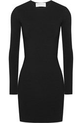 Esteban Cortazar Capri Cutout Jersey Mini Dress Black