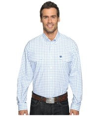Cinch Long Sleeve Plain Weave Plaid Double White Men's Clothing