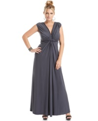 Love Squared Plus Size Sleeveless Knotted Maxi Dress