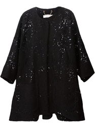 Chloe Chloe Oversized Lace Coat Black