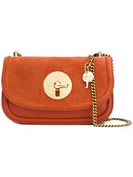 See By Chloe 'Lois' Shoulder Bag Women Cotton Leather Suede One Size Yellow Orange