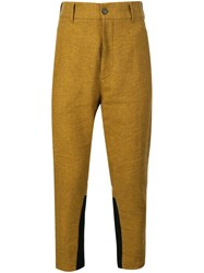 Ann Demeulemeester High Waisted Trousers Yellow And Orange