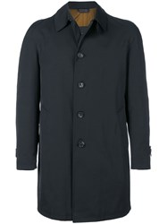 Dell'oglio Straight Fit Buttoned Coat Cotton Polyester Black