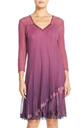 Women's Komarov Embellished Ombre Chiffon A Line Dress